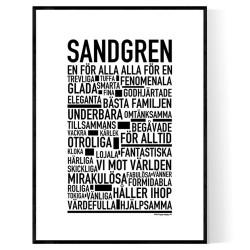 Sandgren Poster