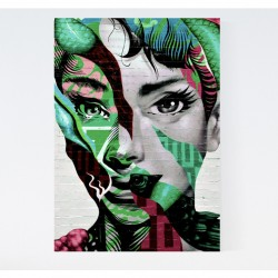 Graffiti Woman Canvas