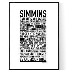 Simmins Poster