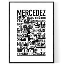 Mercedez Förnamn Poster