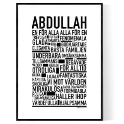 Abdullah Poster