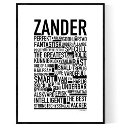 Zander Poster