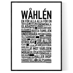 Wåhlén Poster