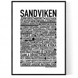 Sandviken Poster