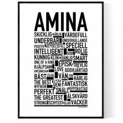 Amina Poster