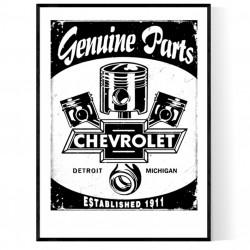 Chevy Parts Poster