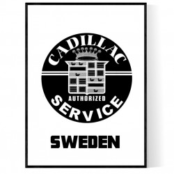 Cadillac Sweden Poster