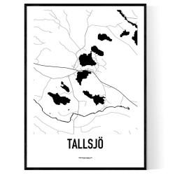 Tallsjö Karta