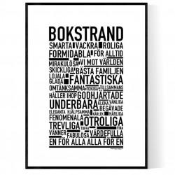Bokstrand Poster