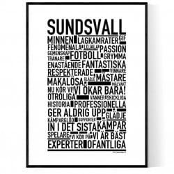 Sundsvall Fotboll Poster
