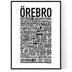 Örebro Fotboll Poster