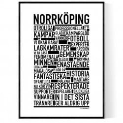Norrköping Fotboll Poster