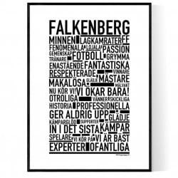 Falkenberg Fotboll Poster