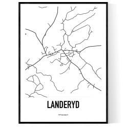 Landeryd Karta
