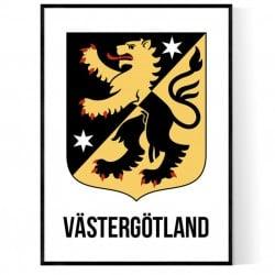 Västergötland Vapen Poster