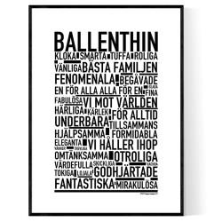 Ballenthin Poster