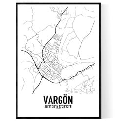 Vargön Karta Poster
