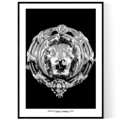 Lion Sculpture Poster