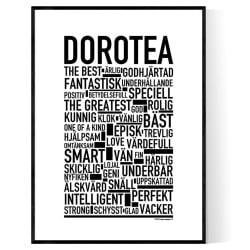 Dorotea Förnamn Poster