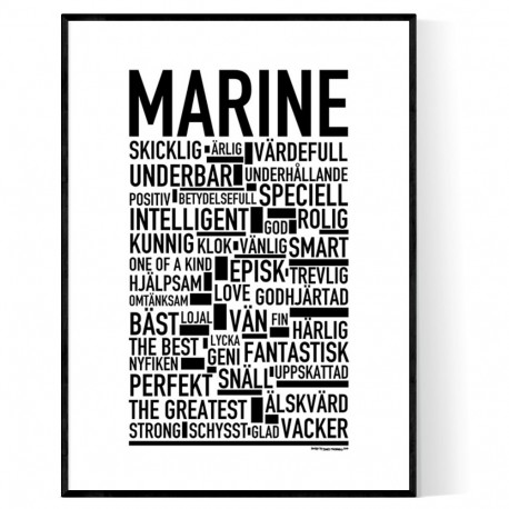 Marine Poster