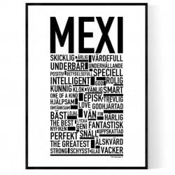 Mexi Namn Poster