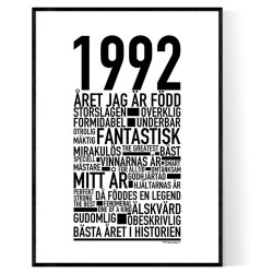 1992 Årtal