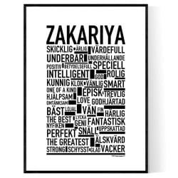 Zakariya Poster