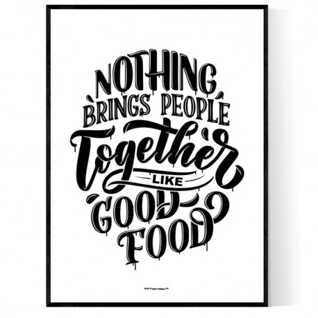 Good Food Poster