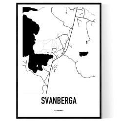 Svanberga Karta