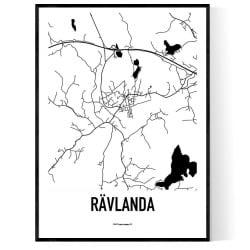 Rävlanda Karta