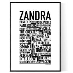 Zandra Poster