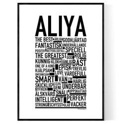Aliya Poster