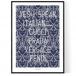 I Speak Italian Poster