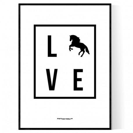 Love Horse Box Poster