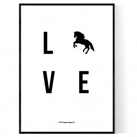 Love Horse Poster