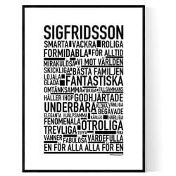 Sigfridsson Poster