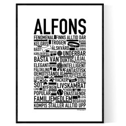 Alfons Hundnamn Poster