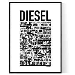 Diesel Hundnamn Poster