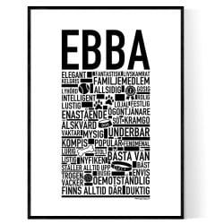 Ebba Hundnamn Poster