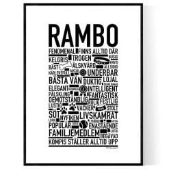 Rambo Hundnamn Poster