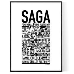 Saga Hundnamn Poster