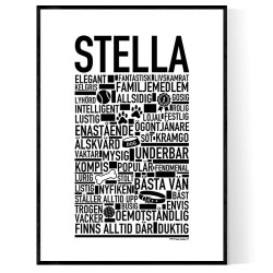 Stella Hundnamn Poster