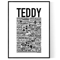 Teddy Hundnamn Poster