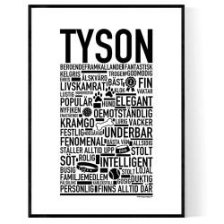 Tyson Hundnamn Poster