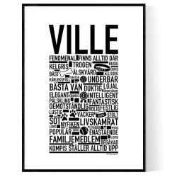 Ville Hundnamn Poster