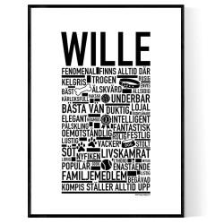 Wille Hundnamn Poster