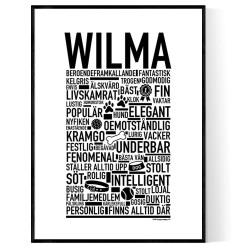 Wilma Hundnamn Poster