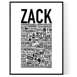 Zack Hundnamn Poster