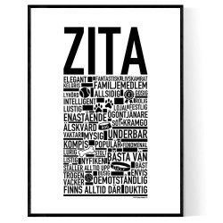 Zita Hundnamn Poster