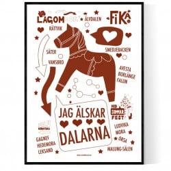 Jag Älskar Dalarna Poster